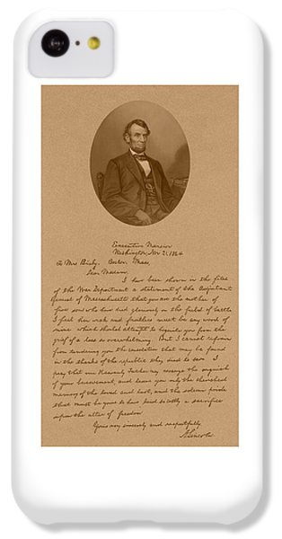 President Lincoln's Letter To Mrs. Bixby IPhone 5c Case