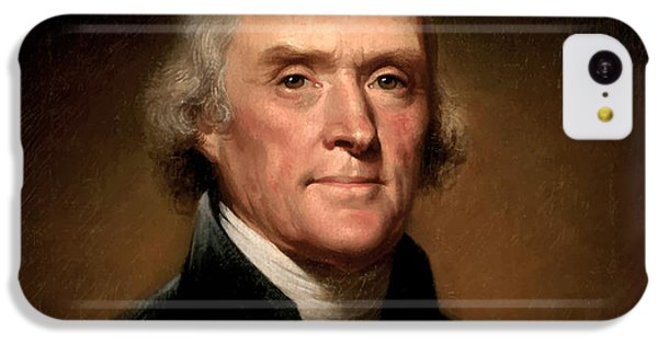 Portraits iPhone 5c Case - President Thomas Jefferson  by War Is Hell Store