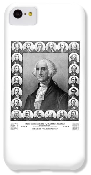 Thomas Jefferson iPhone 5c Case - Presidents Of The United States 1789-1889 by War Is Hell Store