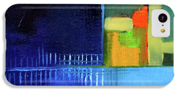 IPhone 5c Case featuring the painting Primary Blue Abstract by Nancy Merkle