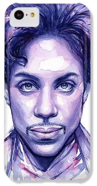 Prince Purple Watercolor IPhone 5c Case by Olga Shvartsur