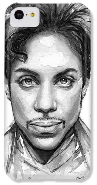 Dove iPhone 5c Case - Prince Watercolor Portrait by Olga Shvartsur