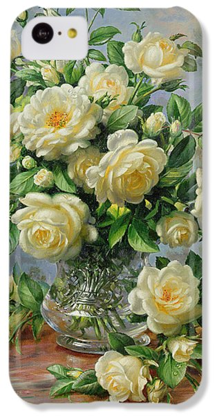 Rose iPhone 5c Case - Princess Diana Roses In A Cut Glass Vase by Albert Williams