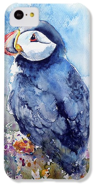 Puffin With Flowers IPhone 5c Case by Kovacs Anna Brigitta