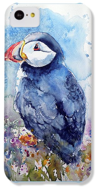 Puffin With Flowers IPhone 5c Case