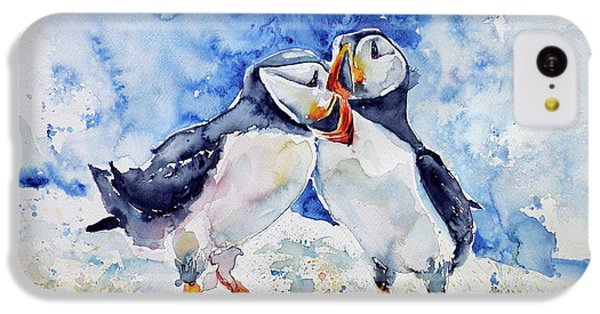 Puffins IPhone 5c Case by Kovacs Anna Brigitta