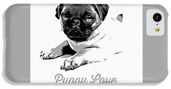 Puppy Love IPhone 5c Case by Edward Fielding
