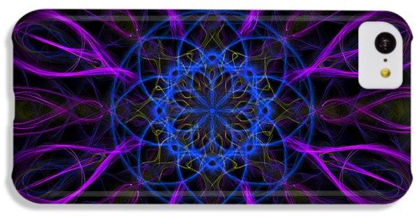 IPhone 5c Case featuring the photograph Purple Blue Kaleidoscope Square by Adam Romanowicz