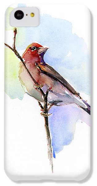 Finch iPhone 5c Case - Purple Finch by John Keeling