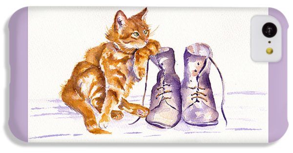 Cat iPhone 5c Case - Puss 'n Boots by Debra Hall