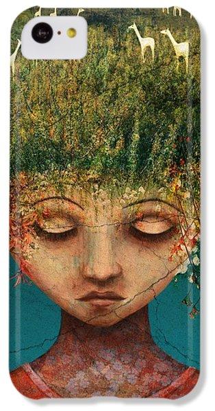 Llama iPhone 5c Case - Quietly Wild by Catherine Swenson