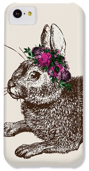 Rabbit And Roses IPhone 5c Case by Eclectic at HeART