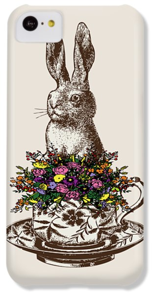 Rabbit In A Teacup IPhone 5c Case by Eclectic at HeART