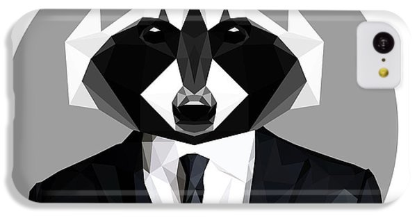 Raccoon IPhone 5c Case by Gallini Design