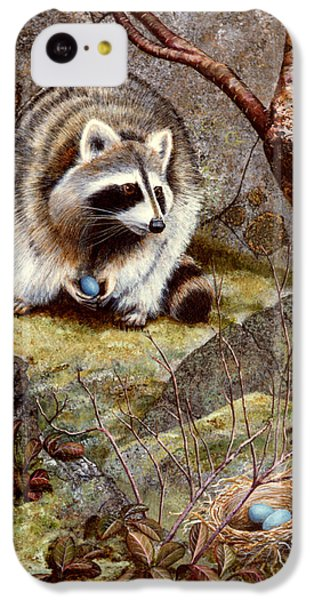 Raccoon Found Treasure  IPhone 5c Case by Frank Wilson