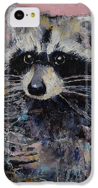 Raccoon iPhone 5c Case - Raccoon by Michael Creese