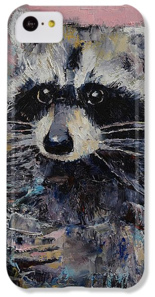 Raccoon IPhone 5c Case by Michael Creese