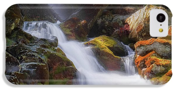 IPhone 5c Case featuring the photograph Race Brook Falls 2017 Square by Bill Wakeley