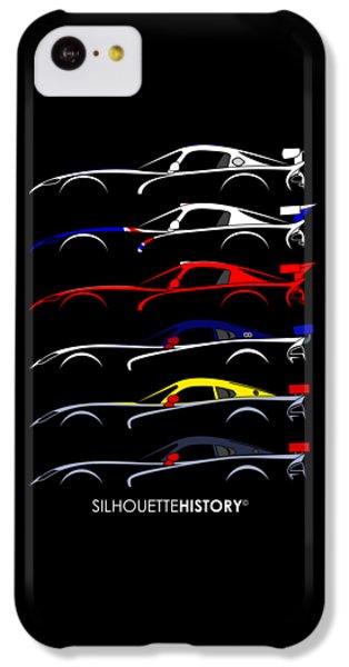 Racing Snake Silhouettehistory IPhone 5c Case by Gabor Vida