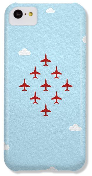 Hawk iPhone 5c Case - Raf Red Arrows In Formation by Samuel Whitton