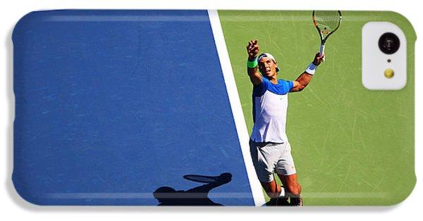 Rafeal Nadal Tennis Serve IPhone 5c Case by Nishanth Gopinathan