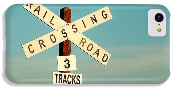 Train iPhone 5c Case - Railroad Crossing by Todd Klassy