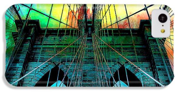 Brooklyn Bridge iPhone 5c Case - Rainbow Ceiling  by Az Jackson