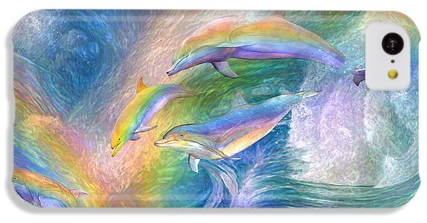 Rainbow Dolphins IPhone 5c Case by Carol Cavalaris