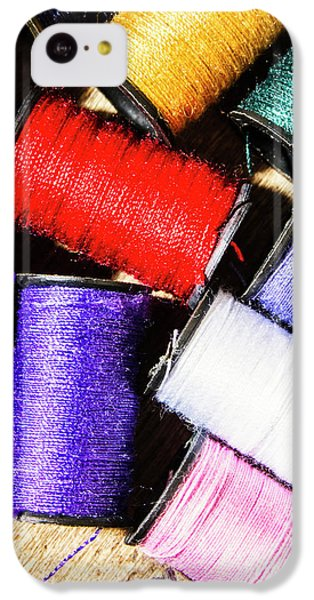 IPhone 5c Case featuring the photograph Rainbow Threads Sewing Equipment by Jorgo Photography - Wall Art Gallery