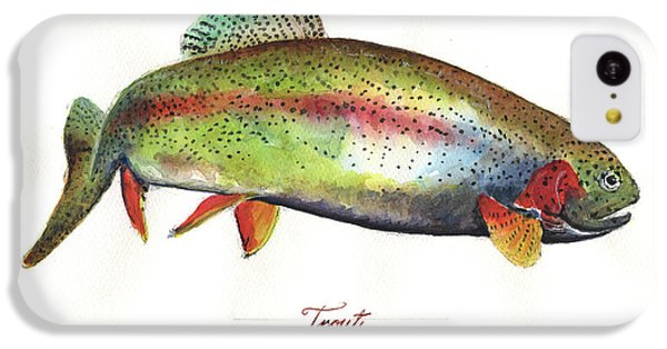 Trout iPhone 5c Case - Rainbow Trout by Juan Bosco