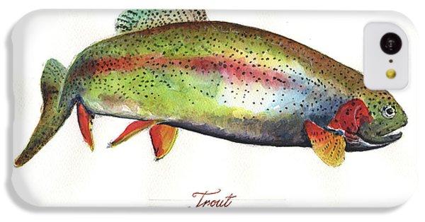 Rainbow Trout IPhone 5c Case by Juan Bosco