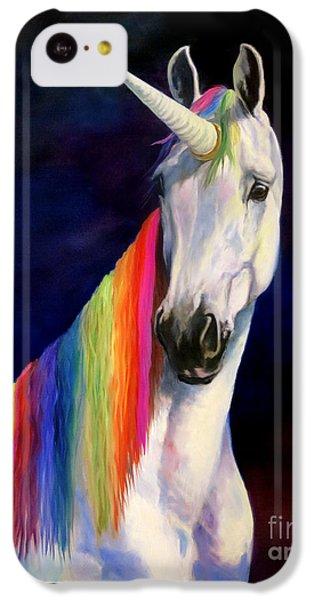 Unicorn iPhone 5c Case - Rainbow Unicorn by Jeanne Newton Schoborg