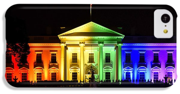 Rainbow White House  - Washington Dc IPhone 5c Case by Brendan Reals