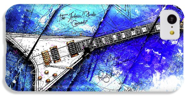 Randy's Guitar On Blue II IPhone 5c Case