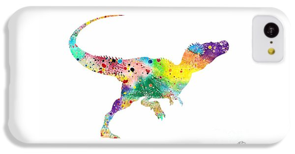Raptor 2 Dinosaur Watercolor IPhone 5c Case