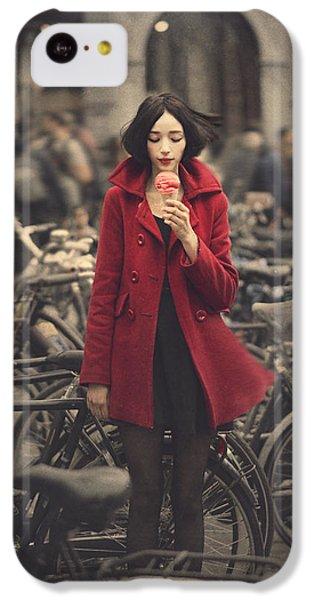 Bicycle iPhone 5c Case - raspberry sorbet in Amsterdam by Anka Zhuravleva