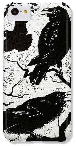 Ravens IPhone 5c Case by Nat Morley