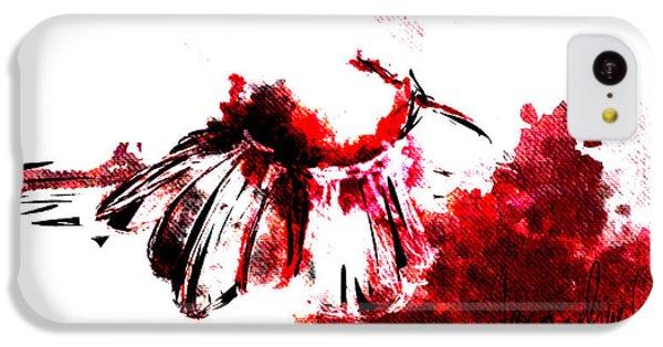 Decorative iPhone 5c Case - Red -1 by Jacqueline Schreiber
