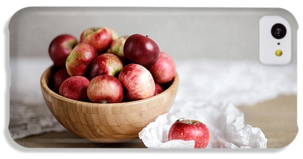 Fruit Bowl iPhone 5c Case - Red Apples Still Life by Nailia Schwarz