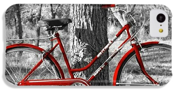Red Bicycle II IPhone 5c Case by James Granberry