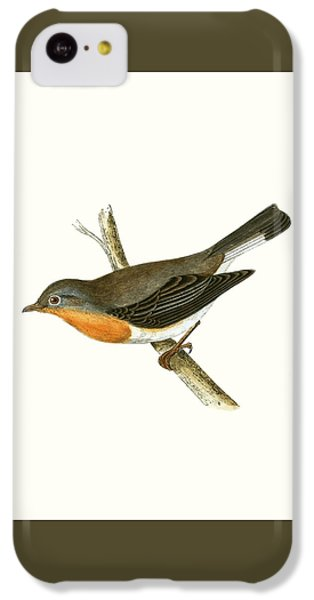 Red Breasted Flycatcher IPhone 5c Case by English School