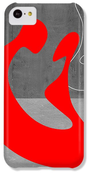 Valentines Day iPhone 5c Case - Red Couple by Naxart Studio