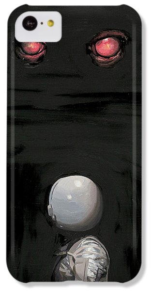 IPhone 5c Case featuring the painting Red Eyes by Scott Listfield