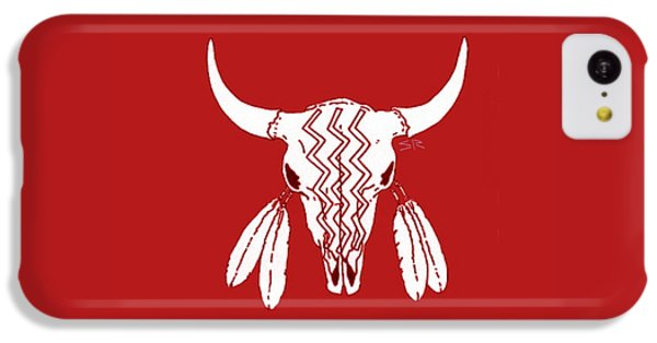 Red Ghost Dance Buffalo IPhone 5c Case by Steamy Raimon