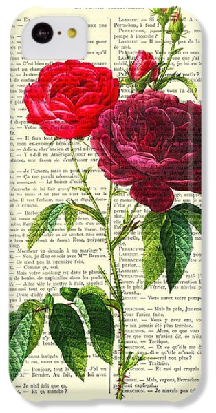 Floral iPhone 5c Case - Red Roses For Valentine by Madame Memento