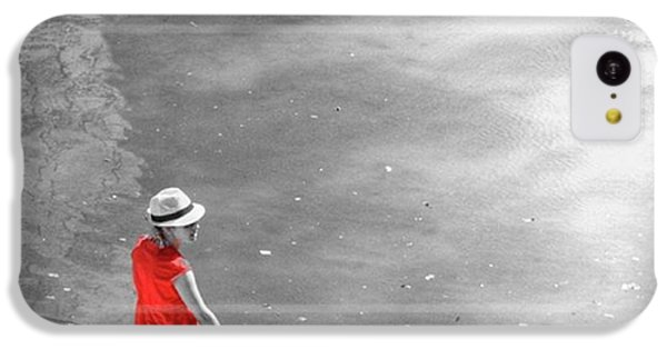 Red Shirt, Black Swanla Seu, Palma De IPhone 5c Case