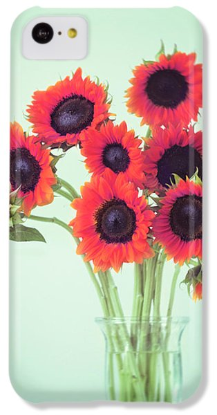 Sunflower iPhone 5c Case - Red Sunflowers by Amy Tyler