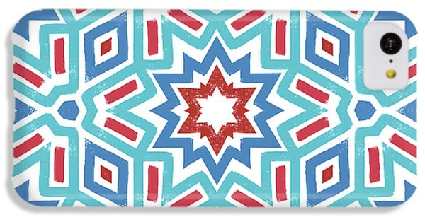 Red White And Blue Fireworks Pattern- Art By Linda Woods IPhone 5c Case by Linda Woods