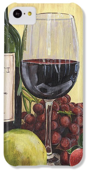 Red Wine And Pear 2 IPhone 5c Case by Debbie DeWitt