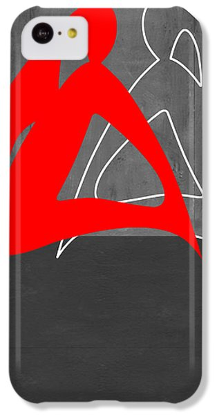 Figurative iPhone 5c Case - Red Woman by Naxart Studio